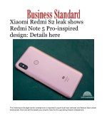 Xiaomi Redmi S2 leak shows Redmi Note 5 Pro-inspired design: Details here