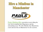 Hire a Minibus in Manchester