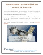 Blockchain Technology for Space Communication