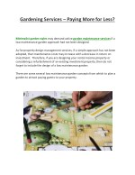 Gardening Services – Paying More for Less?