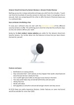 Amazon Cloud Cam Security Camera Reviews | Amazon Product Review