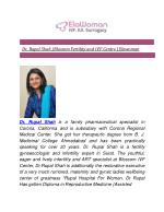 Dr. Rupal Shah | Blossom Fertility and IVF Centre | Elawoman