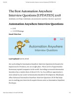 PPT - RPA Interview Questions Part 2 PowerPoint Presentation