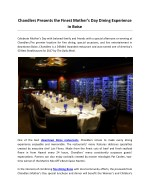 Chandlers Presents the Finest Mother's Day Dining Experience in Boise