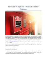 Fire Alarm System Types and Their Features