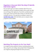 Negotiate A Discount With The Help Of Oakville Real Estate Agents