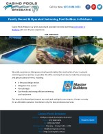 Family Owned & Operated Swimming Pool Builders in Brisbane