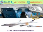 Get Sky Air Ambulance from Patna to Delhi with full Life-Saving Equipment by Sky Air Ambulance