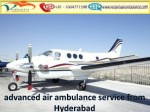 Vedanta Air Ambulance from Hyderabad to Delhi is Available for 24/7/365