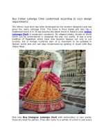 Buy Indian Lehenga Choli customized according to your design requirements