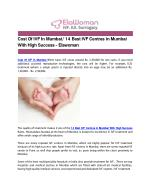 Cost Of IVF In Mumbai/ 14 Best IVF Centres in Mumbai With High Success - Elawoman