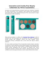 Innovative and Cruelty-Free Beauty Collections by Thrive Causemetics