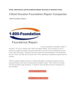 1800Foundation Repair for Houston Texas Residents