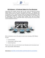 EDI Software : A Preferred Option For Your Business