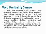 Learn professional web designing course & training - Chandigarh