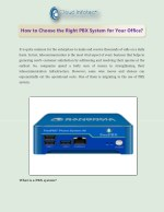 How to Choose the Right PBX System for Your Office?