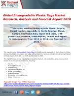 Global Biodegradable Plastic Bags Market Research, Analysis and Forecast Report 2018 .pdf