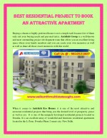 Best residential project to book an attractive apartment.