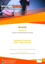 CAMS PDF - Test Your Knowledge With Actual Acams CAMS Exam Questions - OfficialDumps