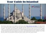 Tour Guide In Istanbul