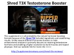 Shred T3X Testosterone Booster