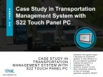 Case Study in Transportation Management System with S22 Touch Panel PC
