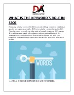 WHAT IS THE KEYWORD'S ROLE IN SEO?