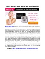 Bellanu Skin Care - Look younger And get Beautiful skin