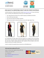 HIGH-QUALITY & COMFORTABLE BEAUTY AND SPA TUNICS IN AUSTRALIA