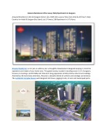 Amaara Residences Ultra Luxury Flats/Apartments in Gurgaon