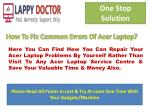 You Repair Your Acer Laptop At Your Home & Save Money and Time