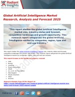 Global artificial intelligence market research, analysis and forecast 2025