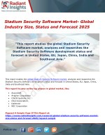 Stadium Security Software Market- Global Industry Size, Status and Forecast 2025