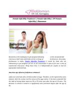Female Infertility Treatment | Female Infertility | IVF Female Infertility | Elawoman