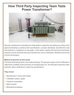 How Third Party Inspecting Team Tests Power Transformer