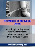Plumbers In My Local Area