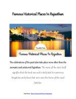 11 Best Historical Places In Rajasthan