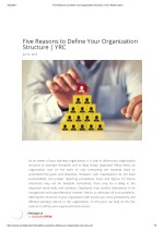Five Reasons to Define Your Organization Structure | YRC
