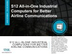 S12 All-in-One Industrial Computers for Better Airline Communications