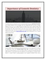 Importance of Cosmetic Dentistry