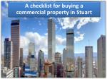 Important factors to know before buying a commercial real estate in Stuart