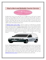 Find a Best and Reliable Courier Service