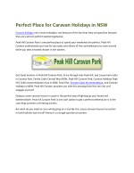 Perfect Place for Caravan Holidays in NSW