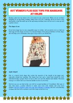 Buy Women's Plus Size Tops for Marriage at Online
