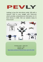 Best Mini Drone Under 100 with camera