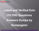 Exin ITILFND Questions Answers Dumps