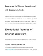 Experience the Ultimate Entertainment with Spectrum in Austin