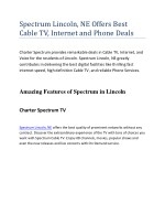 Spectrum Lincoln, NE Offers Best Cable TV, Internet and Phone Deals