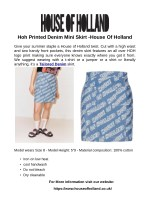 Hoh Printed Denim Mini Skirt -House Of Holland