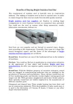 Benefits of Buying Bright Stainless Steel Bar